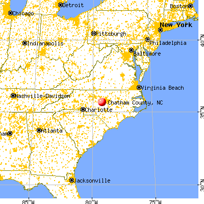 on chatham county nc map