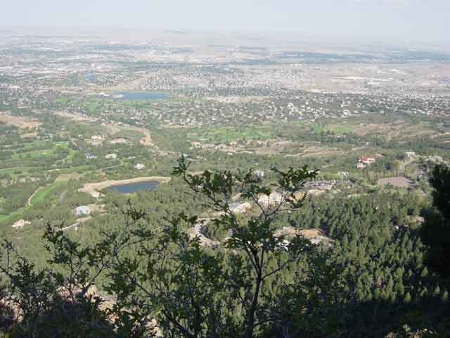 Colorado Springs, CO: View of Colorado Springs from Cheyanne Mountain Shrine