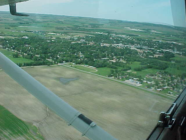 Sisseton, SD : view of Sisseton looking from Northeast to Southwest