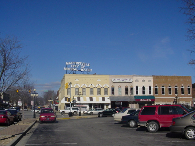 Martinsville, IN : City of Mineral Water Sign