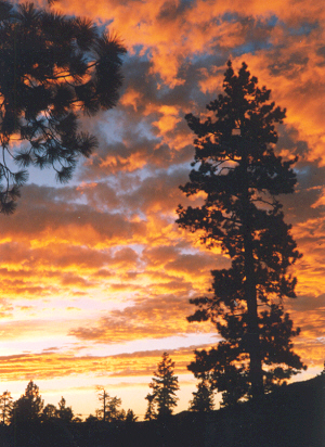 Big Bear Lake, CA: Sunset in Big Bear