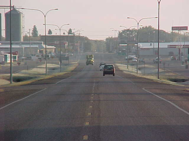Rolla, ND : Main Street of Rolla from the west looking east
