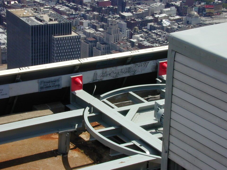 Elmont, NY : George Willing (Spiderman) Autograph Roof of World Trade Center
