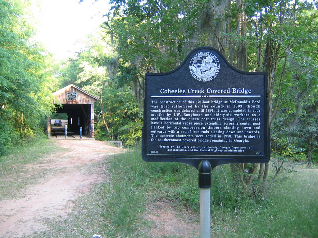 Blakely, GA : Coheelee Creek Covered Bridge near Blakey, GA