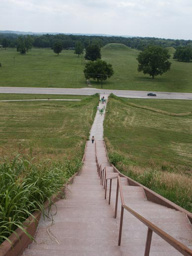 Collinsville, IL : From the top of the largest of the Cahokia Mounds.