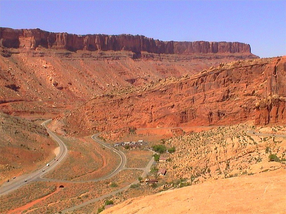 Moab, UT: Entrance to Arches National Park, near Moab, UT.
