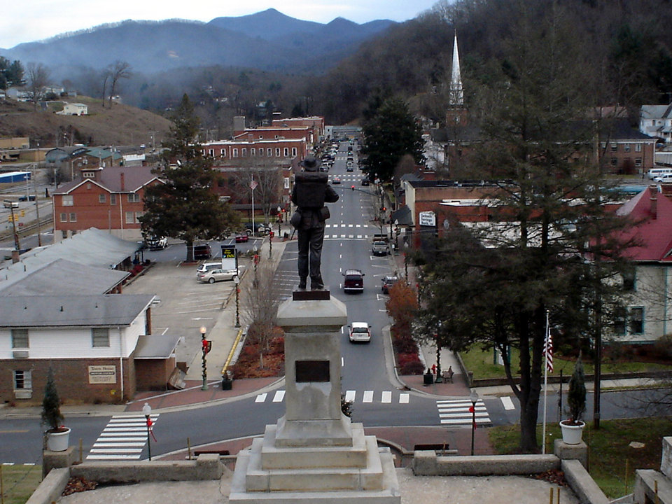Sylva, NC: downtown sylva from courthouse