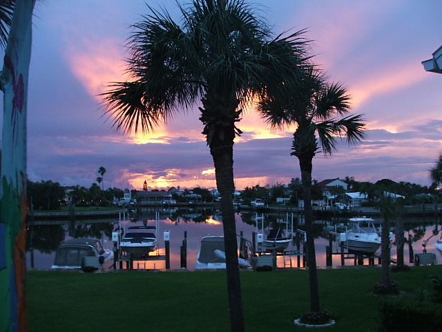Tierra Verde, FL: Sunset from a Balcony at Pine Key Lodge III in Tierra Verde