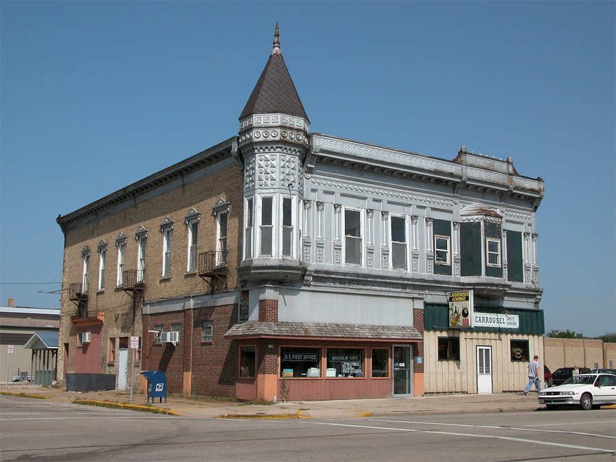Muscoda, WI: A building in downtown Muscoda.