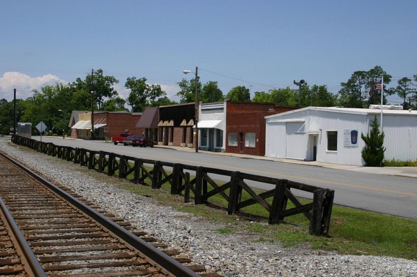 Lenox, GA : Looking South on Railroad Street