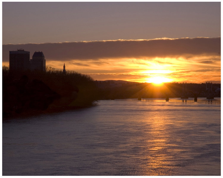 Springfield, MA : Sunrise over Springfield by Joe C.