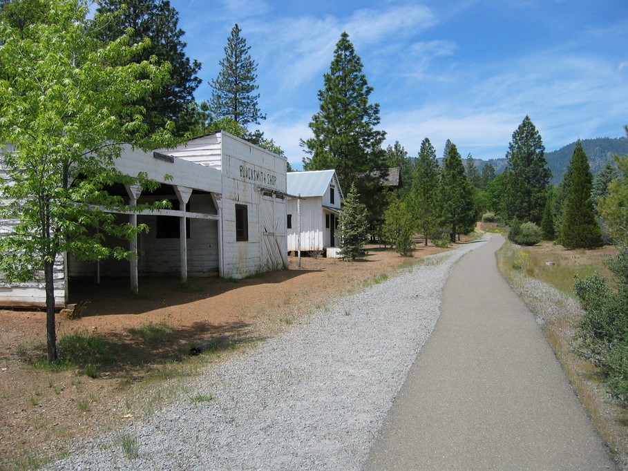 Yreka, CA : historic blacksmith shop and bike path