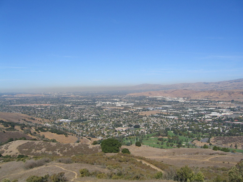 San Jose, CA: Greater San Jose viewed from the south atop Coyote Peak
