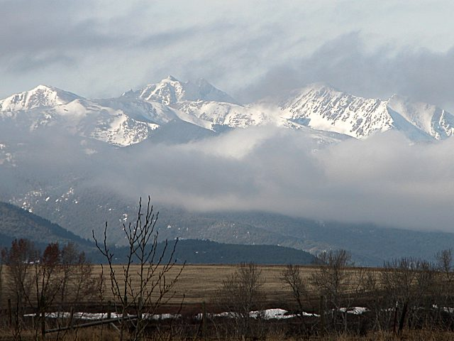 Bozeman, MT : Early Winter in Bozeman's Spanish Peaks