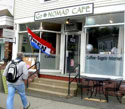 South Deerfield, MA : The GoNOMAD Cafe, an internet cafe and coffee shop in the center of the village.