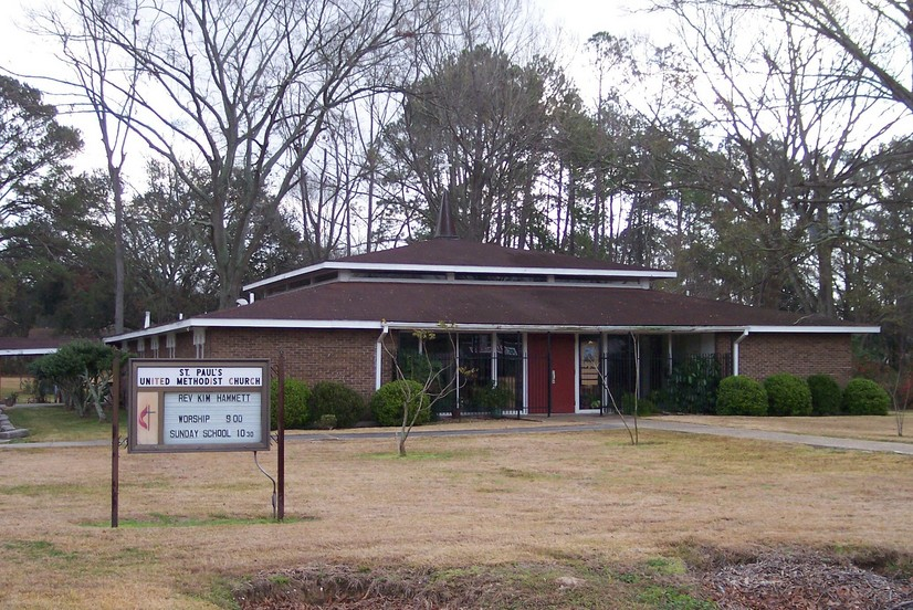 Brownfields, LA: St. Paul's United Methodist Church, Plank Road in Brownsfield