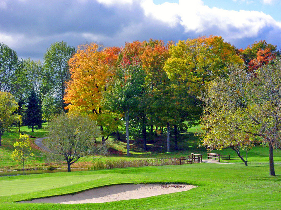 Lake City, MI: Missaukee Golf Course in Fall colors