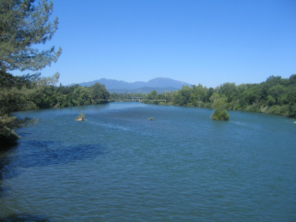 Redding, CA : View from the Sundial Bridge - Redding, CA - July 2006