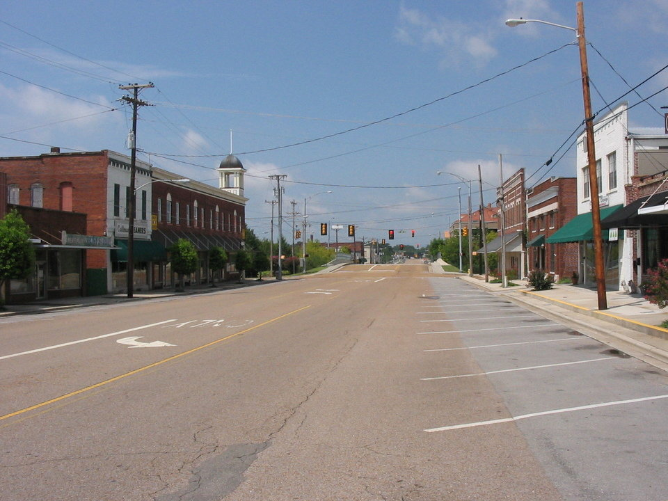 Cullman, AL: Sunday morning in old downtown Cullman