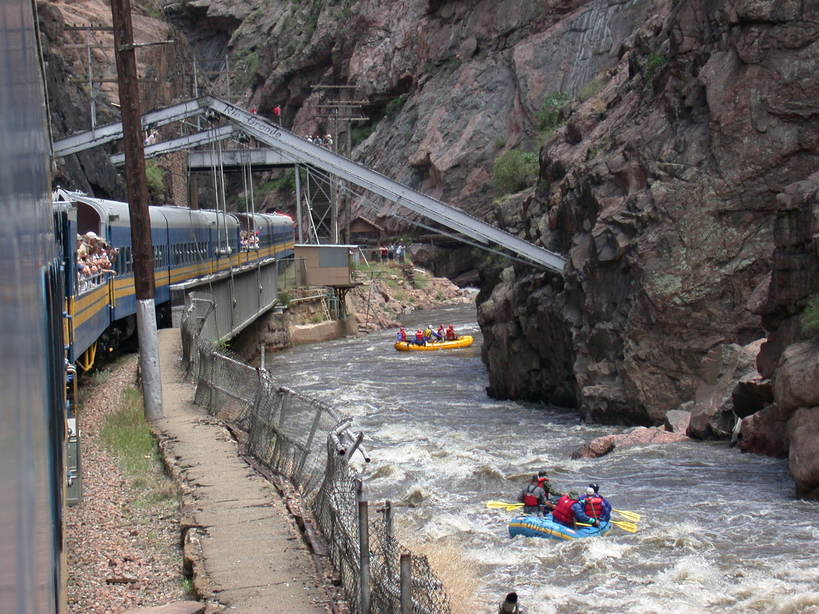 Canon City, CO : Canon City, CO, riding the Royal Gorge Route scenic train.