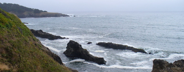 Mendocino, CA : Pacific Ocean from Mendocino California