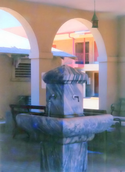 Marlin, TX : Mineral Water Fountain Located At The Chamber Of Commerce