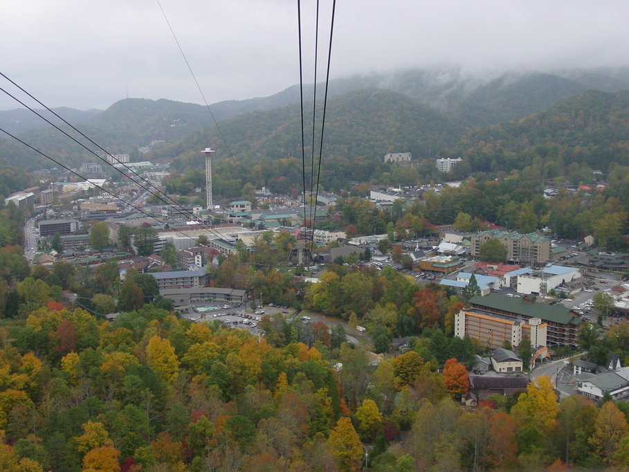 Gatlinburg, TN: View from chair lift