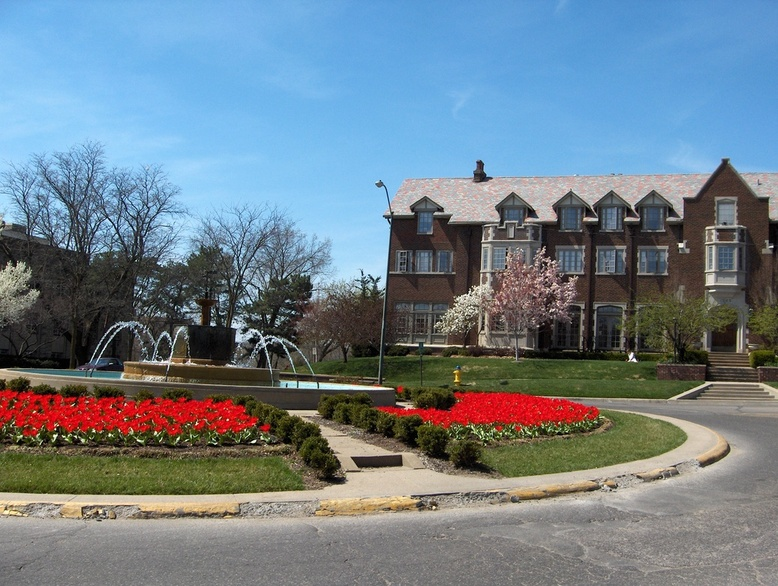 Lawrence, KS: Chi Omega Fountain At The University Of Kansas