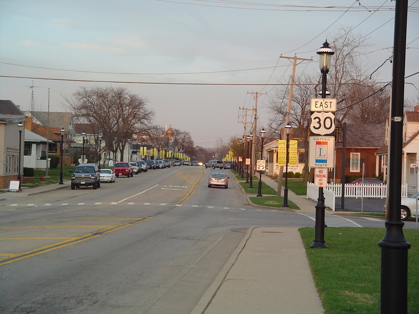 Plainfield, IL: Light traffic on Lockport Street (looking East)