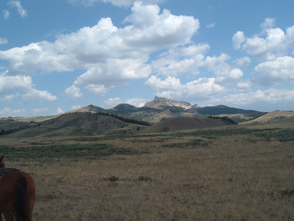 Dubois, WY : A view of Castle Rock from what we at the Lazy L&B call the 360 view