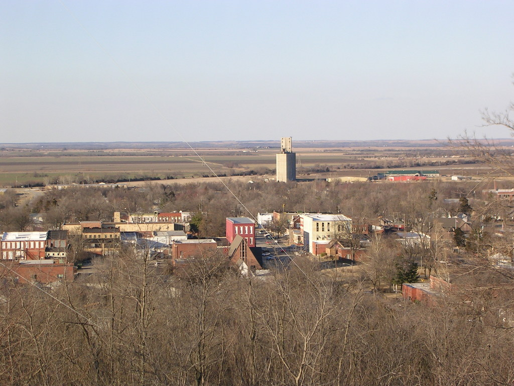 Fredonia, KS : Fredonia, Kansas - Taken From South Mound