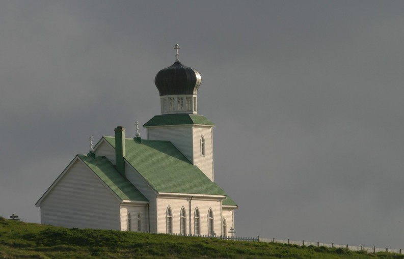 St. George, AK: Russian Orthodox church on St. George Island, Alaska