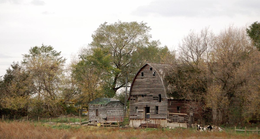 Sauk Rapids, MN : Old Barn in Industrial Park