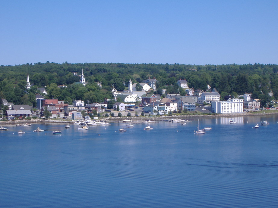 Bucksport, ME : View of Beautiful Bucksport, Maine from Fort Knox