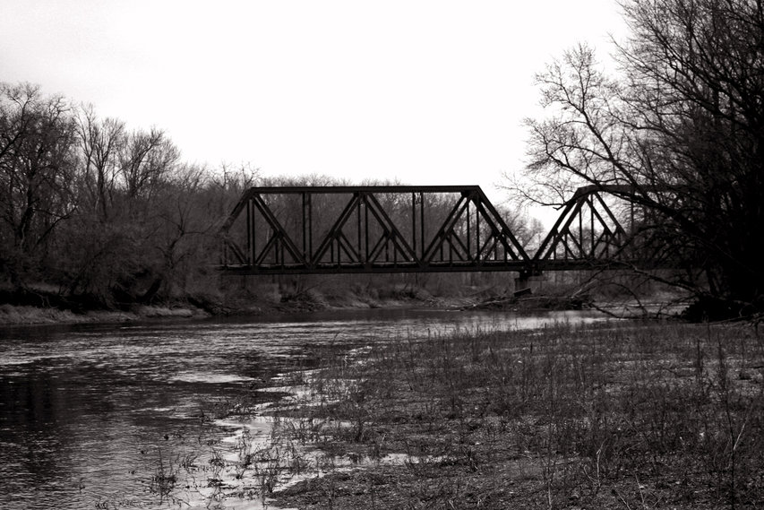 Clarksville, IA : Railroad Bridge Over Shell Rock River Clarksville IA