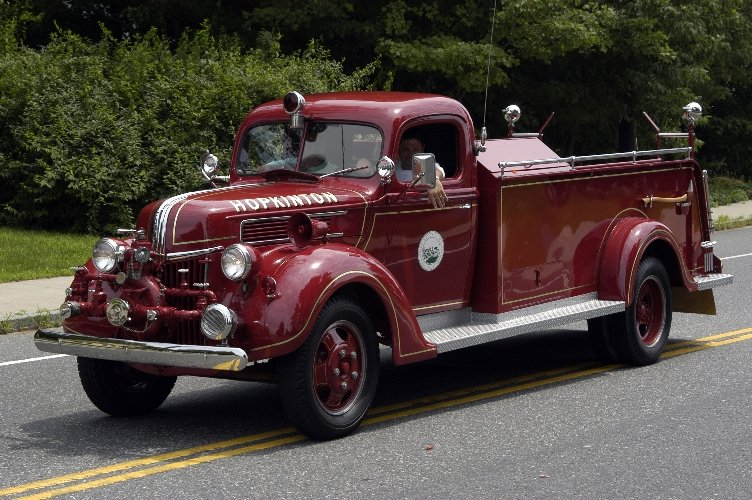 Hopkinton, MA: Vintage Hopkinton fire engine used in the Independence Day Parade 2006.
