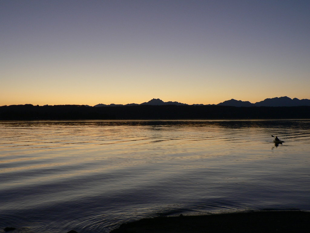 Tracyton, WA: dyes inlet at sunset