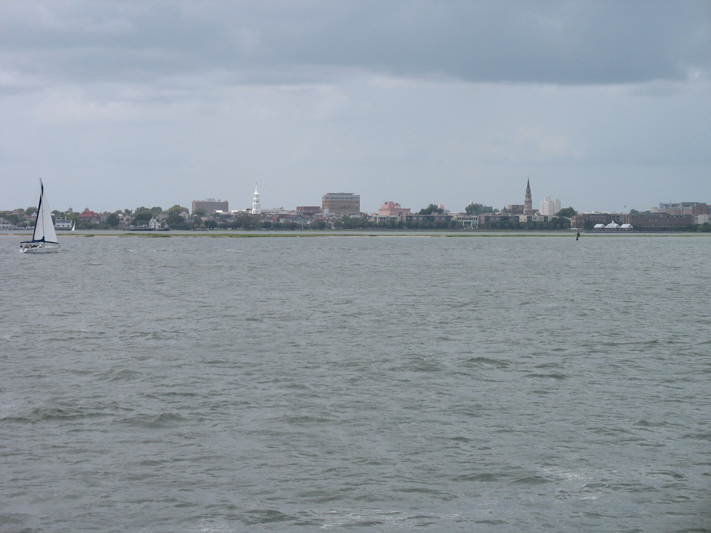 Charleston, SC : View of Charleston from the harbor