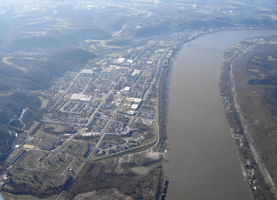 Maysville Ky Maysville From The Air Photo Picture