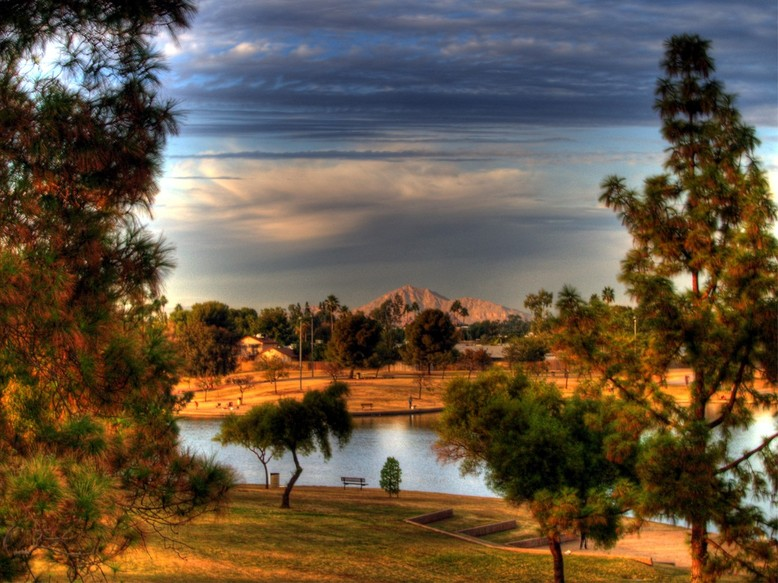 Tempe, AZ : Sunset Glory over Kiwanis Park