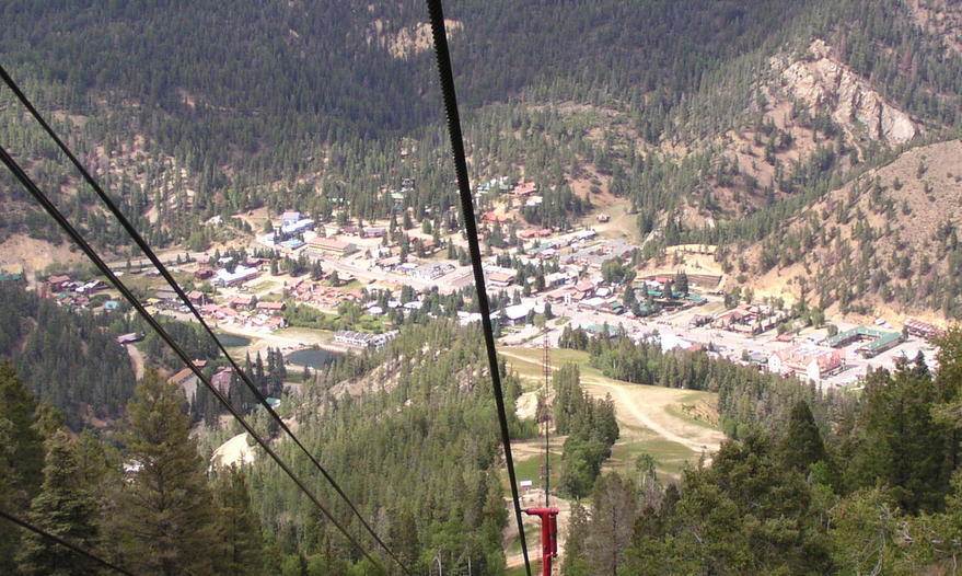 Red River, NM : View from Red River N.M. Ski Area lift.