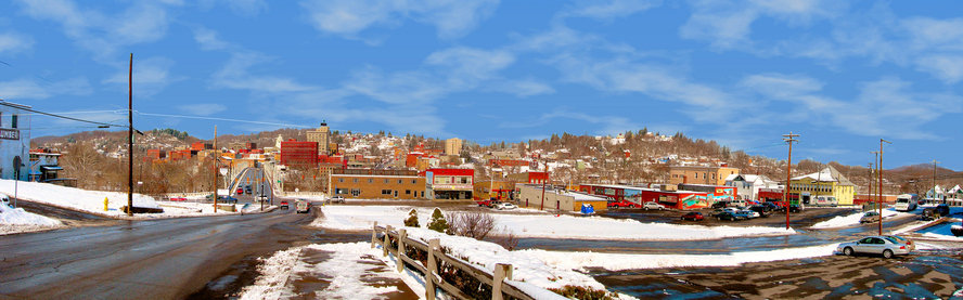 Fairmont, WV : Panoramic view of West Fairmont from East Side.