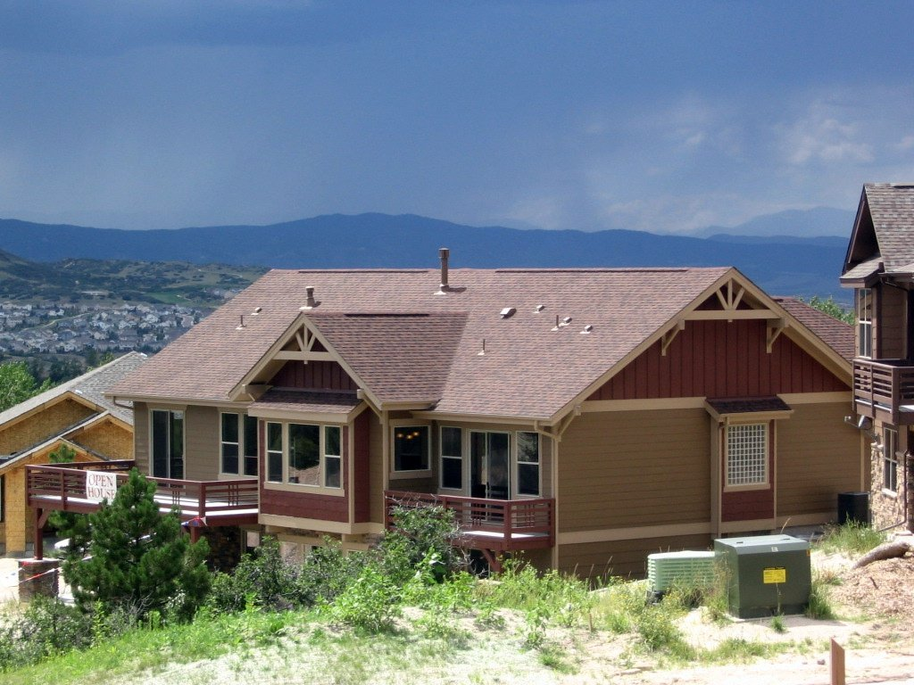Colorado Springs Co House And Mountains Photo Picture