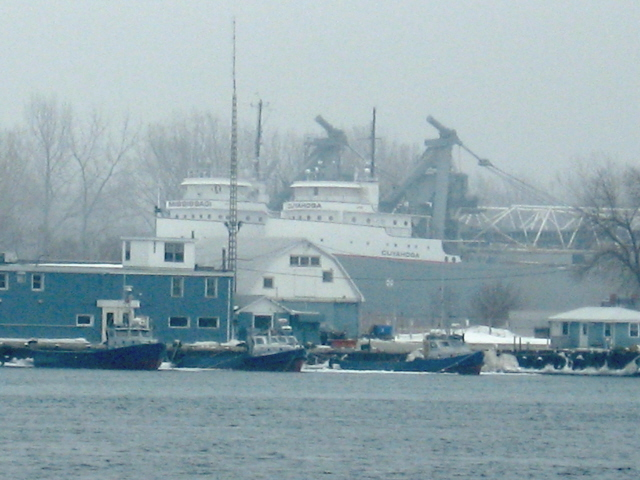 Port Huron, MI: freighters docked for the Winter