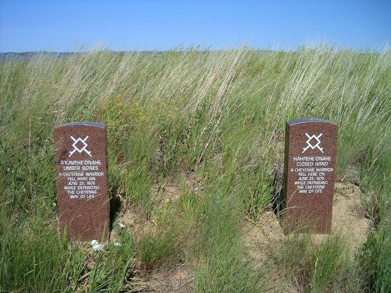 Crow Agency, MT: Crow Agency, Montana: Little Bighorn Battlefield National Monument: Cheynne Warrior markers