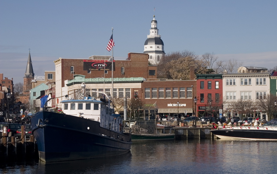Annapolis, MD : Annapolis City Dock, December 2005