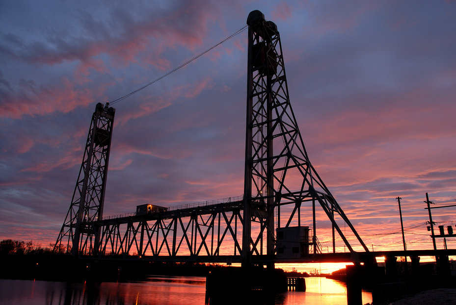 Beaumont, TX : Neches River Rail Bridge