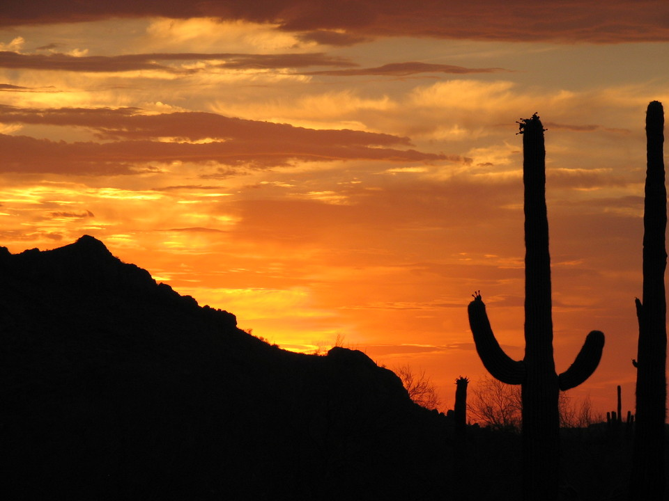 Casa Grande, AZ: Sunset from Casa Grande Mountain