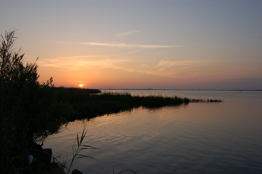 Spanish Fort, AL : Sunset over the causeway