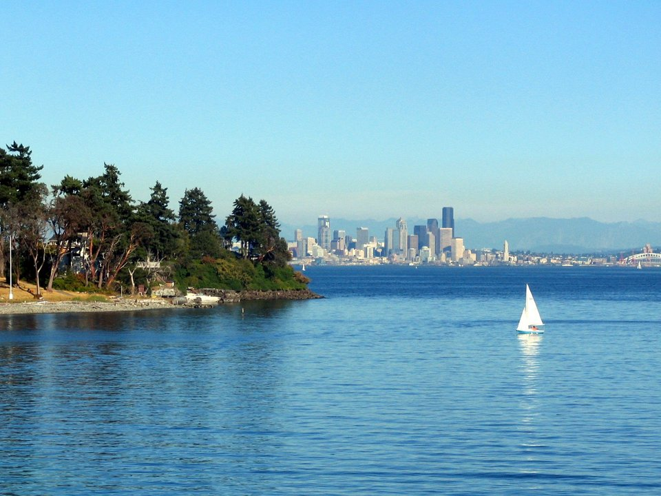 Seattle, WA : Seattle, from Bainbridge Island